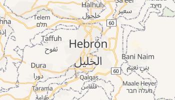 Mapa online de Hebrón