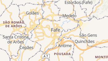 Mapa online de Fafe