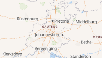 Mapa online de Gauteng