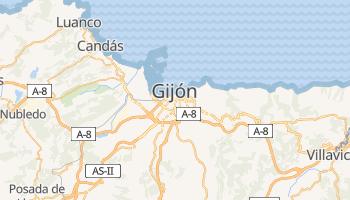 Mapa online de Gijón