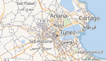 Mapa online de Tunez