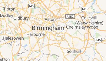 Mapa online de Birmingham