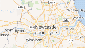 Mapa online de Newcastle-upon-Tyne