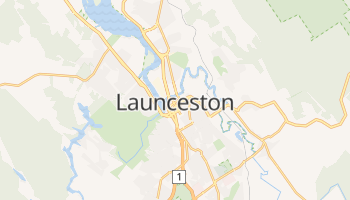 Carte en ligne de Launceston