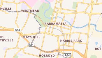 Carte en ligne de Parramatta