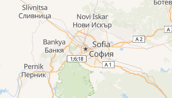 Carte en ligne de Sofia