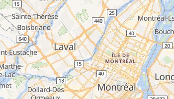 Carte en ligne de Laval