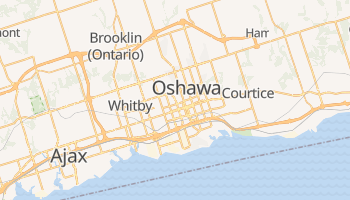 Carte en ligne de Oshawa