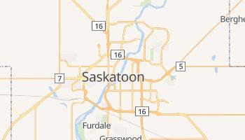 Carte en ligne de Saskatoon