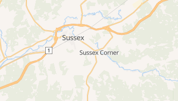 Carte en ligne de Sussex