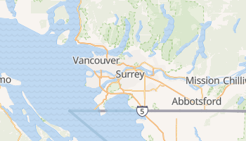 Carte en ligne de Vancouver