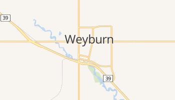 Carte en ligne de Weyburn