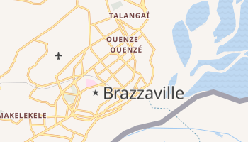 Carte en ligne de Brazzaville