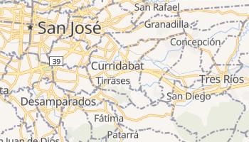 Carte en ligne de Curridabat