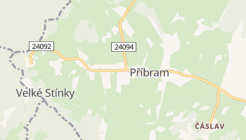 Carte en ligne de Příbram