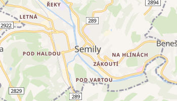 Carte en ligne de Semily