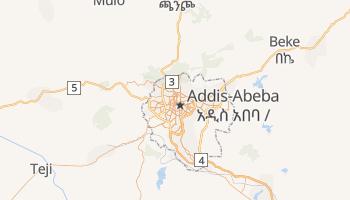 Carte en ligne de Addis-Abeba
