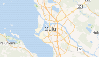 Carte en ligne de Oulu
