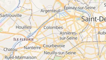 Carte en ligne de Colombes
