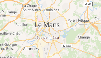 Carte en ligne de Le Mans
