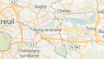 Carte en ligne de Noisy-le-Grand