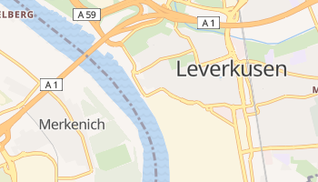 Carte en ligne de Leverkusen