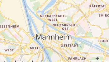 Carte en ligne de Mannheim