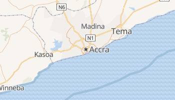 Carte en ligne de Accra