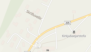 Carte en ligne de Kirkjubæjarklaustur