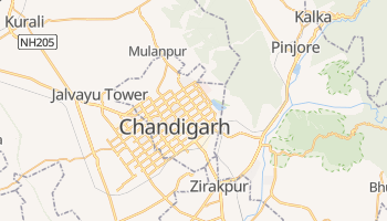 Carte en ligne de Chandigarh