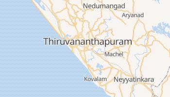 Carte en ligne de Thiruvananthapuram