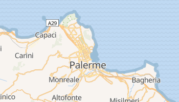 Carte en ligne de Palerme