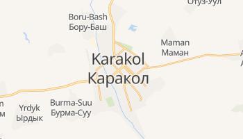 Carte en ligne de Karakol