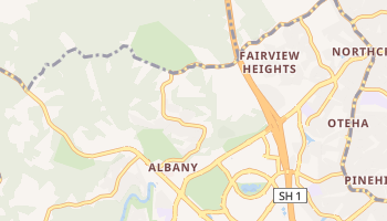 Carte en ligne de Albany