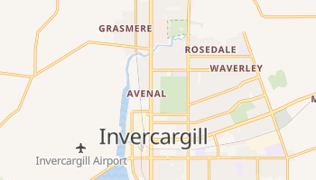 Carte en ligne de Invercargill