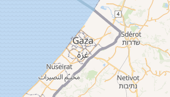 Carte en ligne de Gaza