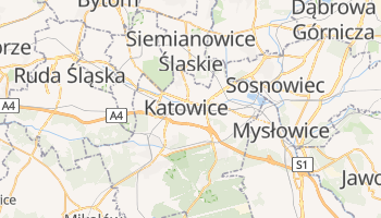 Carte en ligne de Katowice