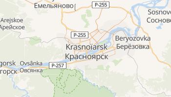 Carte en ligne de Krasnoïarsk