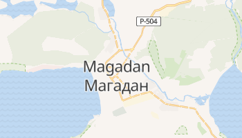 Carte en ligne de Magadan
