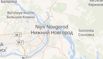 Carte en ligne de Nijni Novgorod