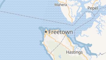 Carte en ligne de Freetown