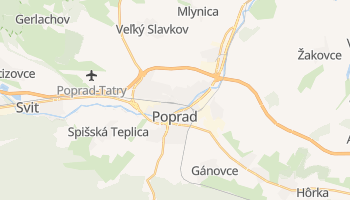 Carte en ligne de Poprad
