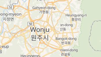 Carte en ligne de Wonju