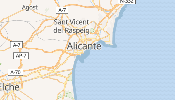 Carte en ligne de Alicante