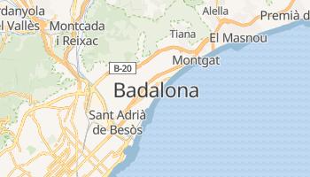 Carte en ligne de Badalona