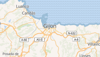 Carte en ligne de Gijón