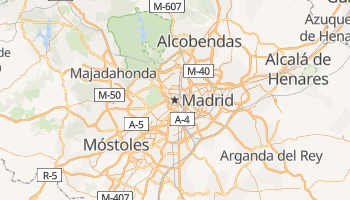 Carte en ligne de Madrid