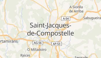 Carte en ligne de Saint-Jacques-de-Compostelle