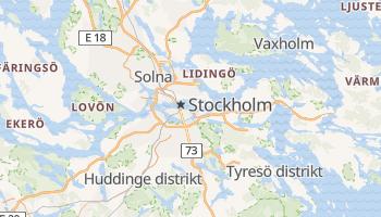 Carte en ligne de Stockholm