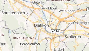 Carte en ligne de Dietikon